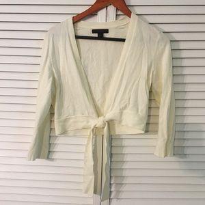 Express Sweaters - Cream shrug/cardigan